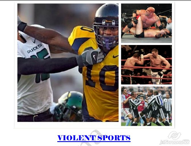 a research on the violence in sports Sport may not be the cause of violence according to the national opinion research center survey sponsored by the national science foundation at the.