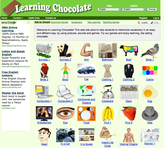 Learning Chocolate… learning vocabulary | Blog de Cristina