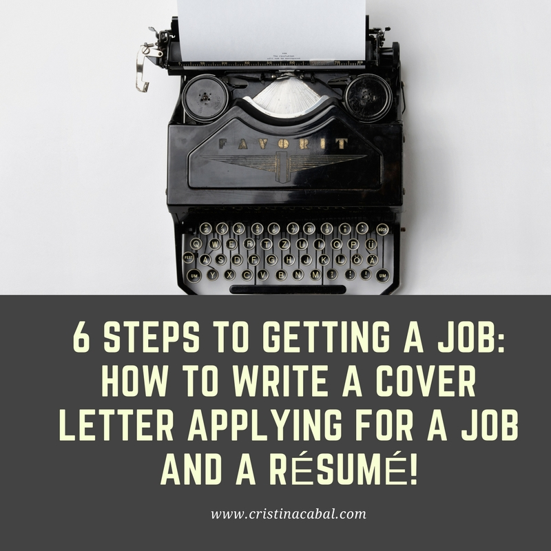 Steps to writing a resume cover letter