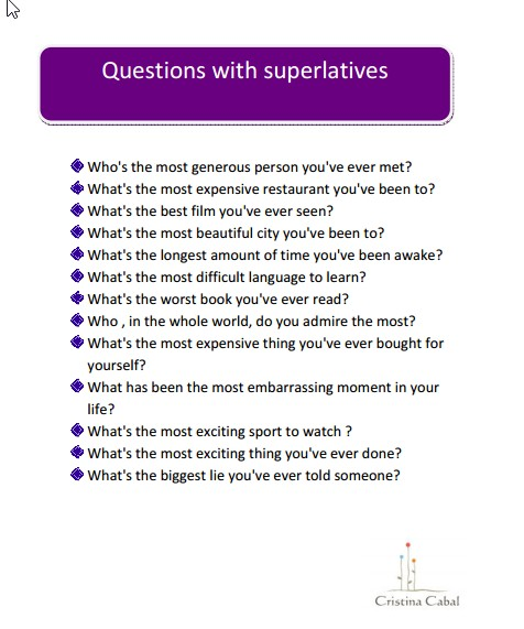 Some Activities To Talk Nonstop Using Comparatives And