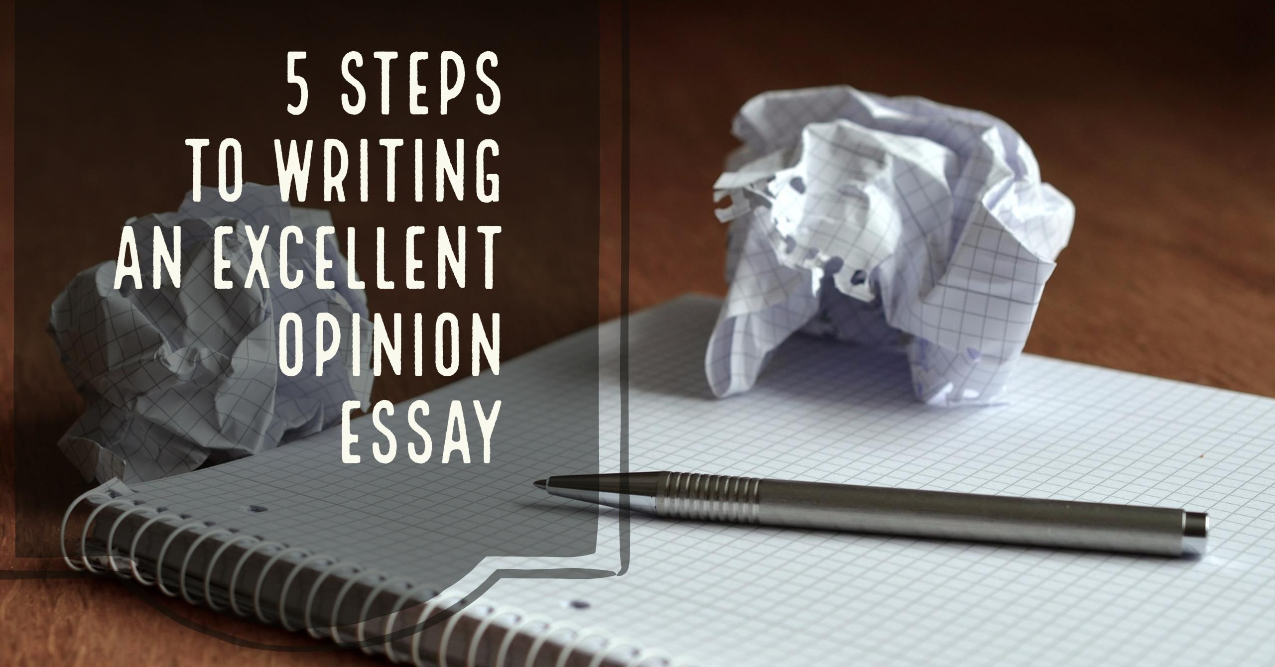How To Write An Opinion Essay Step By Step