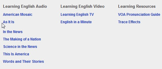 VOA Learning English: Interesting Site to Read and Listen to